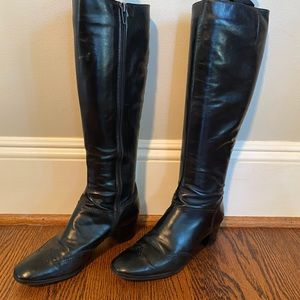 Salvatore Ferragamo tall black boots